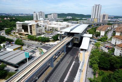 View of the Kota Damansara Station. Sep 2016