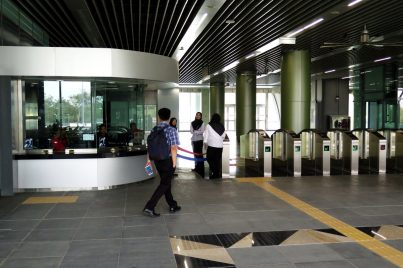 Customer service office at concourse level