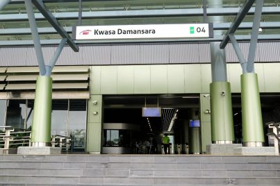 Entrance of the Kwasa Damansara station