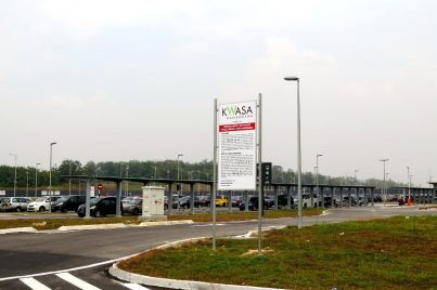 Park and ride facility at Kwasa Sentral station