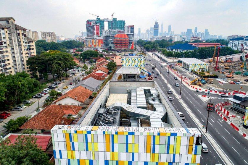 Arial view of Maluri MRT station and its suroundings