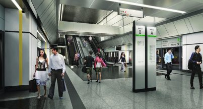 Artist impression of Merdeka Station