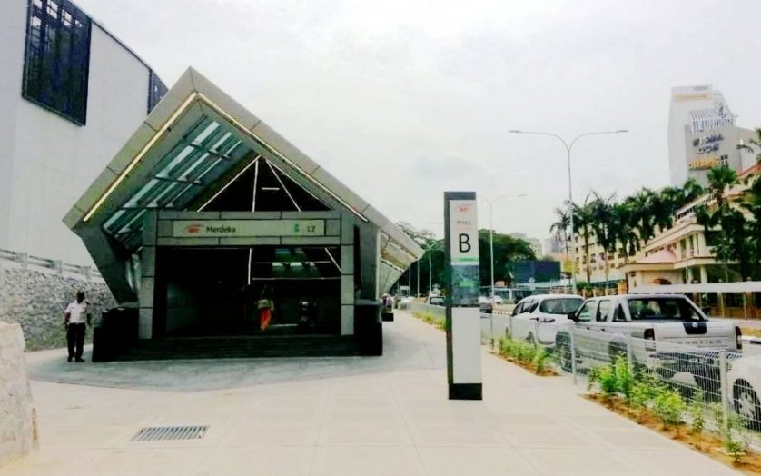 Entrance B to the Merdeka station