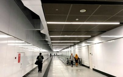 Linkway to connect the MRT and LRT station
