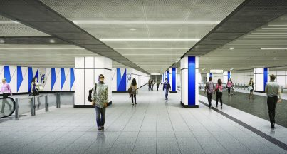 Artist impression of Pasar Seni Station