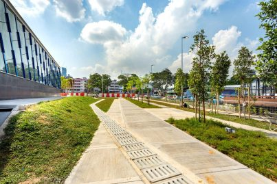 Pedestrian walkway near Pasar Seni MRT Station