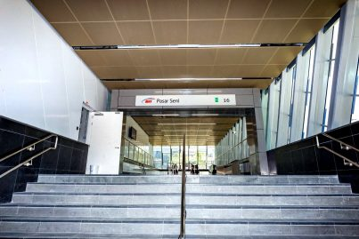 Entrance of the Pasar Seni MRT Station