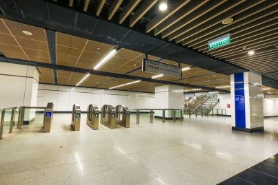 Concourse level of the Pasar Seni station