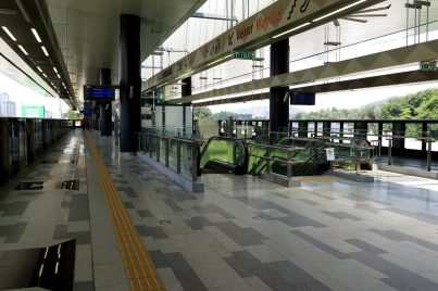 Boarding platform level at Phileo Damansara station