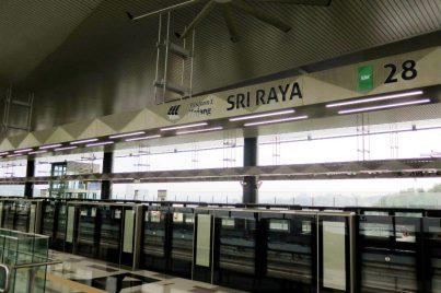 Boarding platform of Sri Raya station