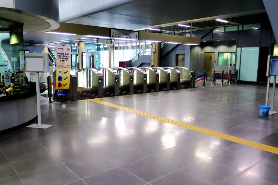 Fare gates and customer service office