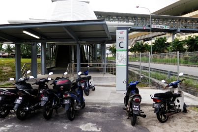 Entrance C of Sri Raya station