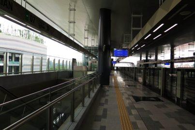 Platform 1: Sungai Buloh–Kajang Line towards Kajang