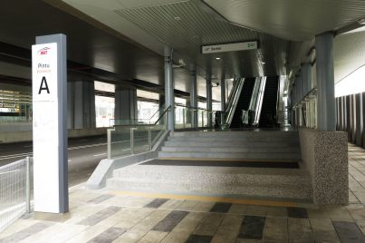 Entrance A of Surian station