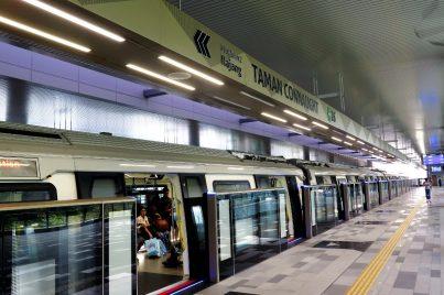 Boarding platform at Taman Connaught station