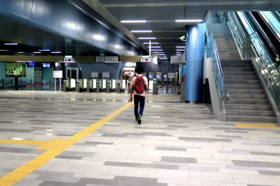 Concourse level of the Taman Connaught station