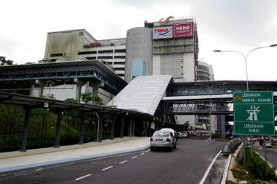 Entrance A of the Taman Connaught station