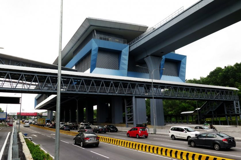 View of Taman Connaught station near entrance A
