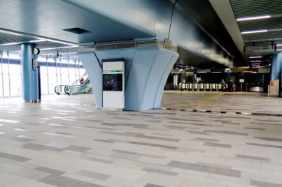 Concourse level at Taman Midah station