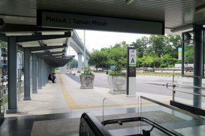 Entrance A of Taman Midah station