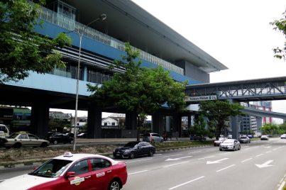 View of Taman Midah station near entrance B