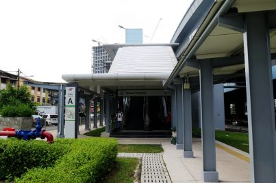 Entrance A of the Taman Mutiara station