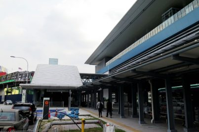 Entrance B of the Taman Mutiara station