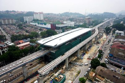 Aerial view of the Taman Mutiara Station. Oct 2015