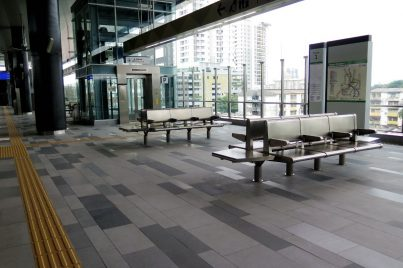 Waiting area at Taman Pertama station