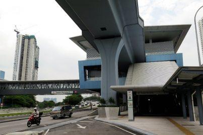 View of Taman Pertama station near entrance A