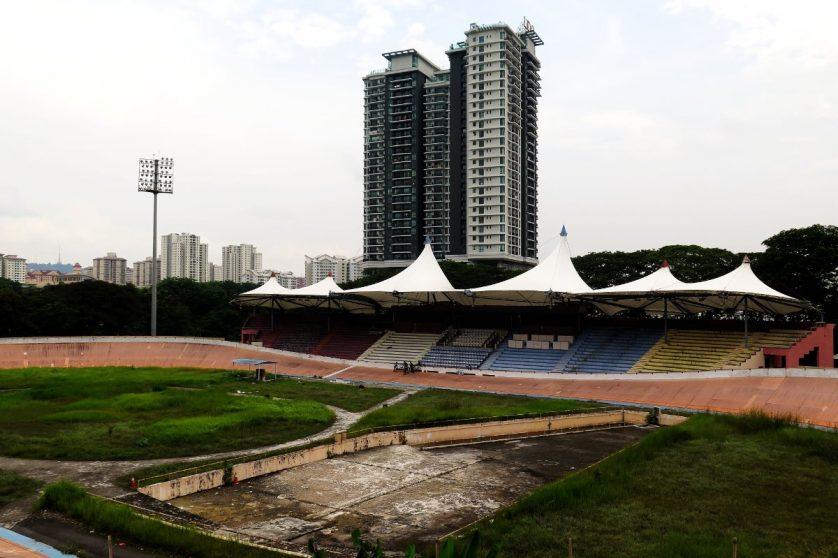 View of VElodrom Kuala Lumpur from the Taman Pertama station