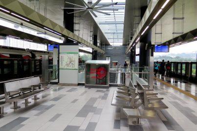 Boarding platform at Taman Suntex station