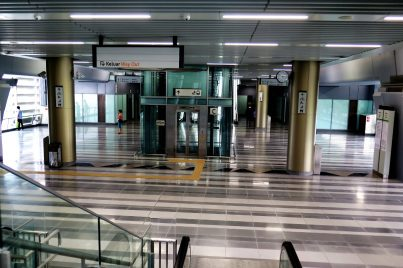 Concourse level of Taman Suntex station