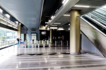 Fare gates on concourse level