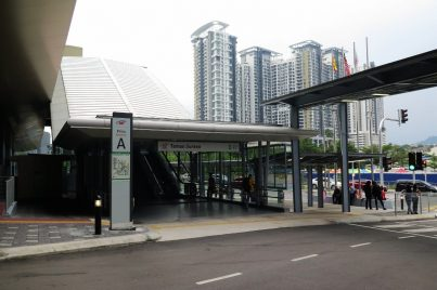 Entrance A of the Taman Suntex station