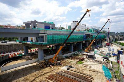 View of the construction of Taman Suntex Station in progress. Nov 2015