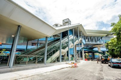 Entrance to the Taman Tun Dr Ismail Station almost ready. Oct 2016