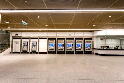 Ticket vending machines on concourse level