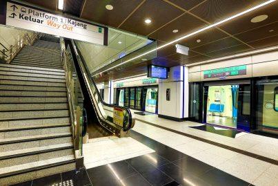 Boarding platform at Tun Razak Exchange station