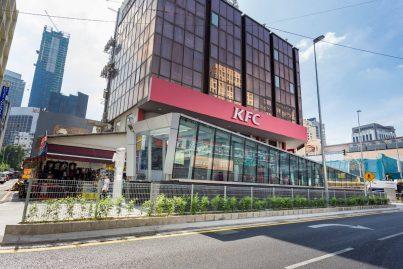 Entrance A of the Bukit Bintang Station beside KFC