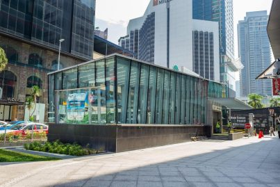 Entrance E of Bukit Bintang MRT station near the Wolo Bukit Bintang Hotel