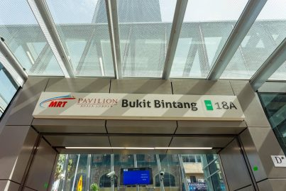 Entrance D of Bukit Bintang station, near Lot 10 shopping mall