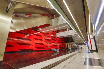 Train boarding platform level at Bukit Bintang station