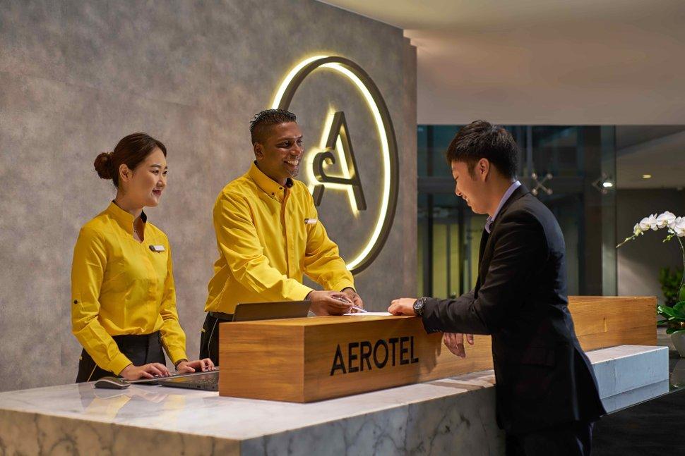 Reception at Aerotel Kuala Lumpur