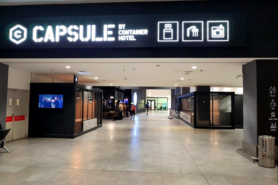 The Capsule by Container Hotel located at level 1 of the Gateway@klia2 mall
