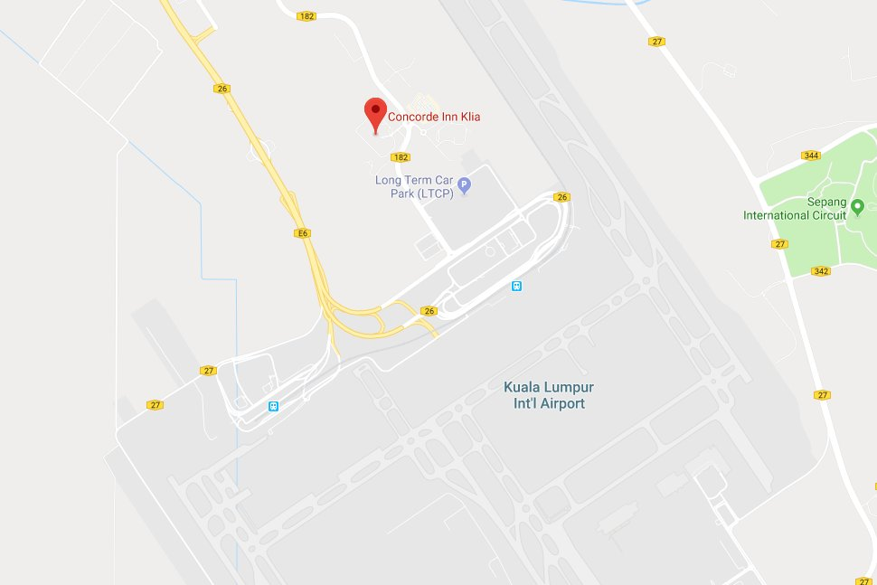 Location map of Concorde Inn KLIA