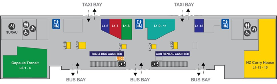 Location of Capsule by Container Hotel