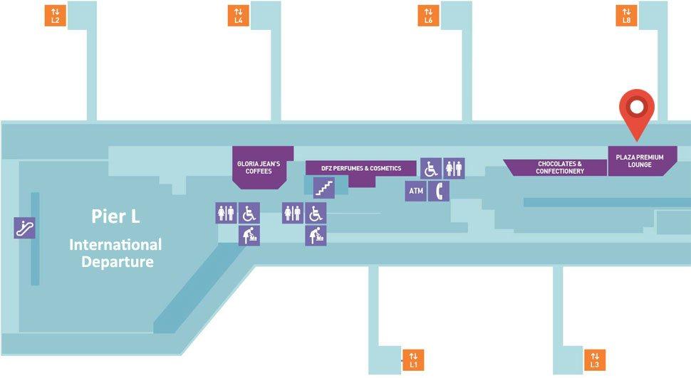 Location of Plaza Premium Lounge at Pier L