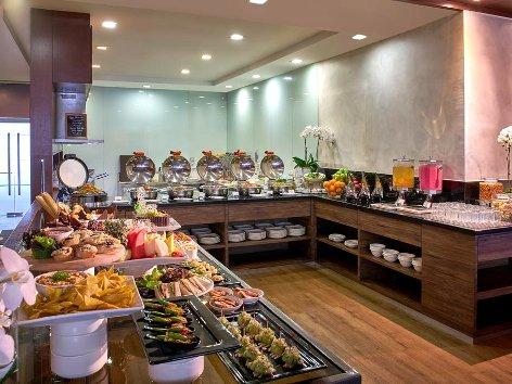 Enjoy the buffet spread