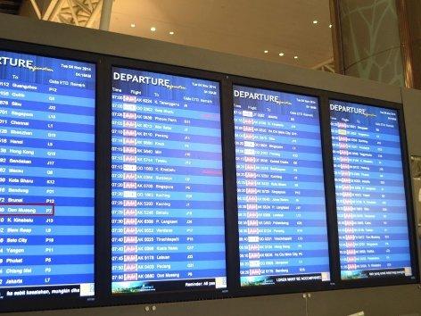 Flight info display screen
